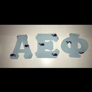Sorority Iron-on Letters